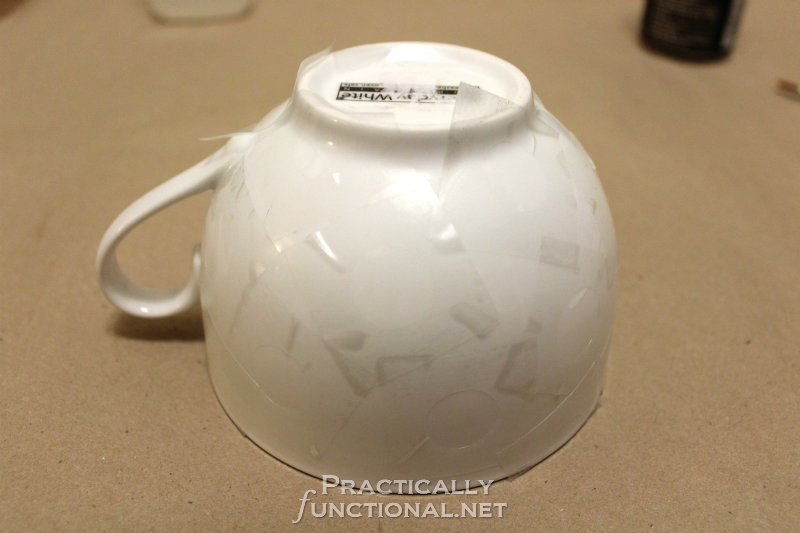 DIY Minnie Mouse Mug - Contact Paper Stencils
