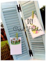 Use Shutters To Display Greeting Cards
