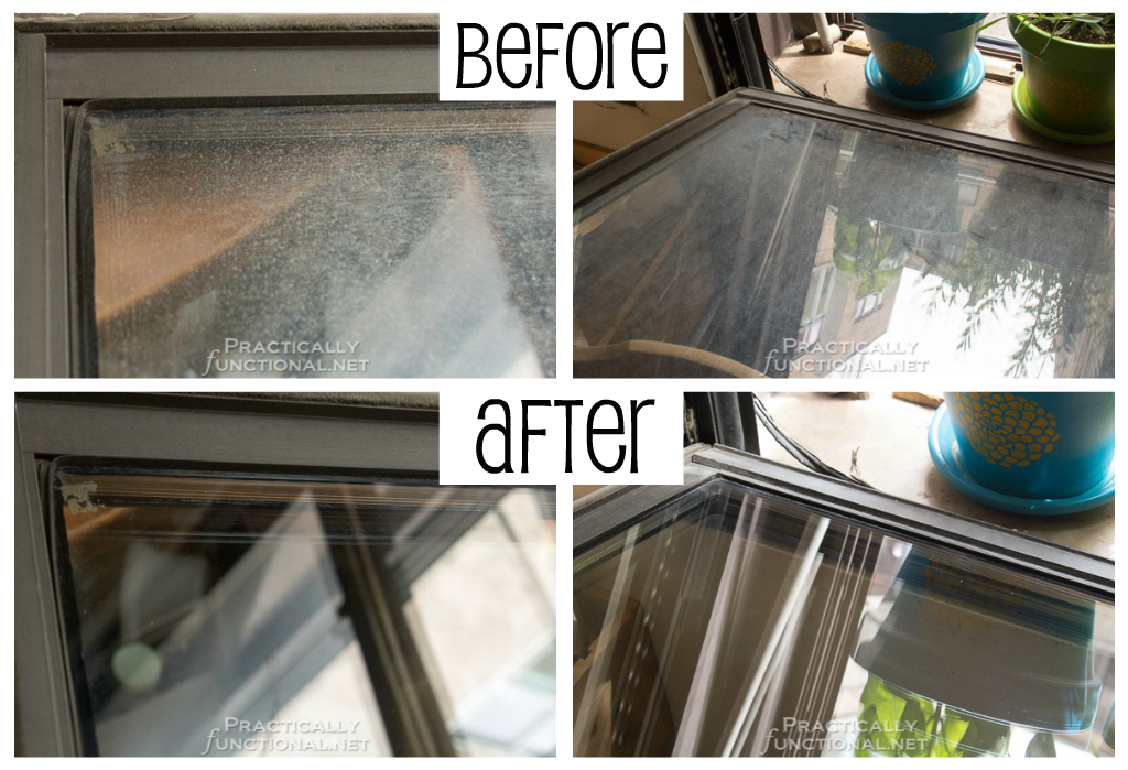 Clean Windows The Easy Way: Fish Foam window cleaner before and after