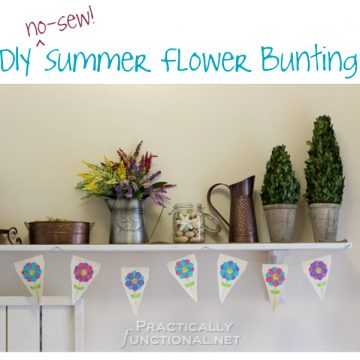 DIY No Sew Summer Flower Bunting