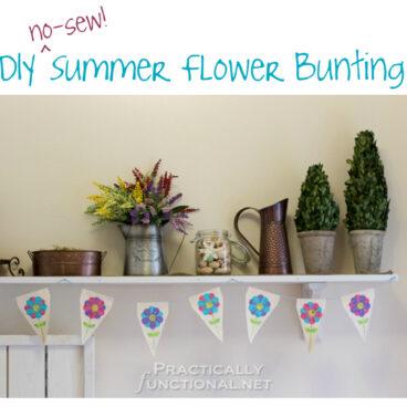 DIY No Sew Summer Flower Bunting