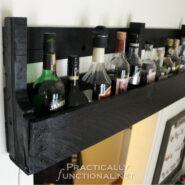 DIY Rustic Pallet Shelf Tutorial from PracticallyFunctional.net | DIY Rustic Pallet Shelf