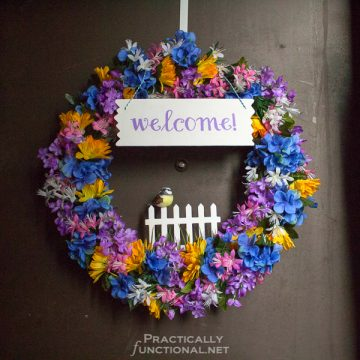DIY Spring Welcome Wreath Tutorial