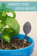 DIY Hammered Spoon Garden Markers