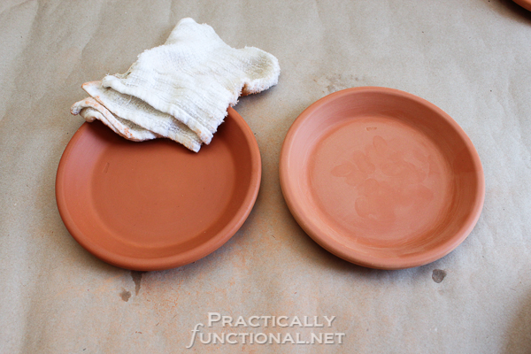 How To Seal Painted Flower Pots - Cleaning up sanding dust