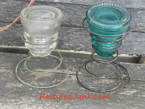 11 creative ideas projects crafts recipes and more for Glass insulators crafts
