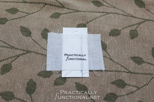 DIY Custom Printed Fabric Tags