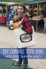 DIY Heat Transfer Canvas Tote Bag