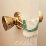 DIY Nursery Door Latch Cover