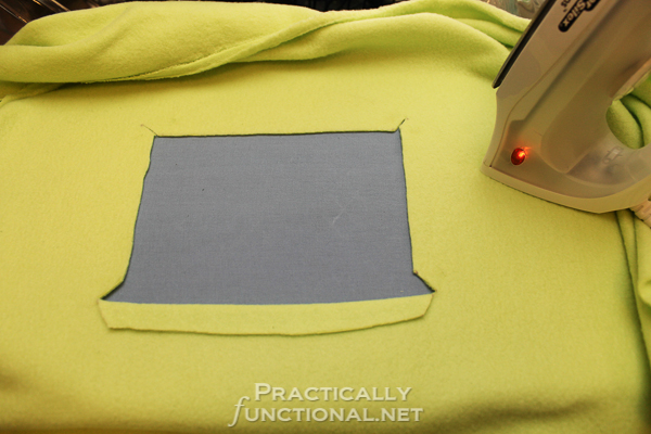 Make your own waterproof car seat canopy: Create a window