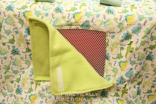Make your own waterproof car seat canopy: Window