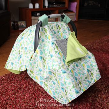 Make your own waterproof car seat canopy with this tutorial!