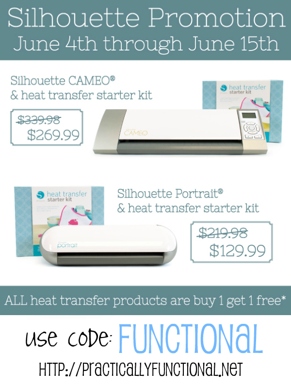 Silhouette Heat Transfer Discounts: Buy one get one free!