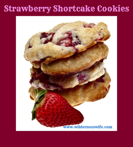 Strawberry Shortcake Cookies from The Wilderness Wife