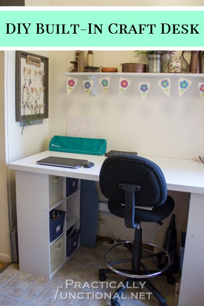 Make Your Own Built In Craft Desk Practically Functional