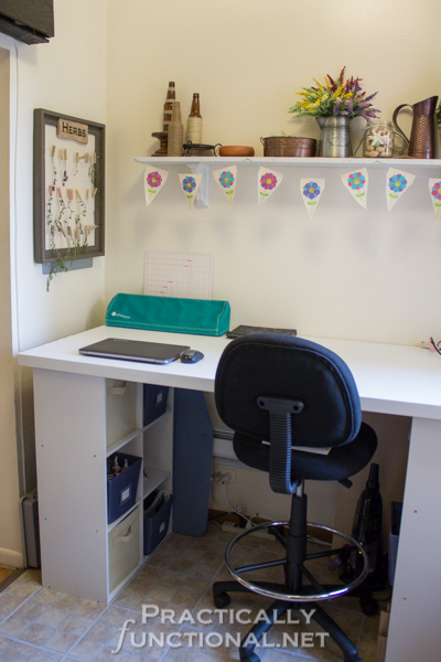 Make Your Own Built In Craft Desk