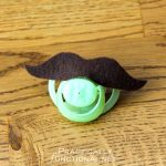 Quick And Easy DIY Mustache Pacifiers!