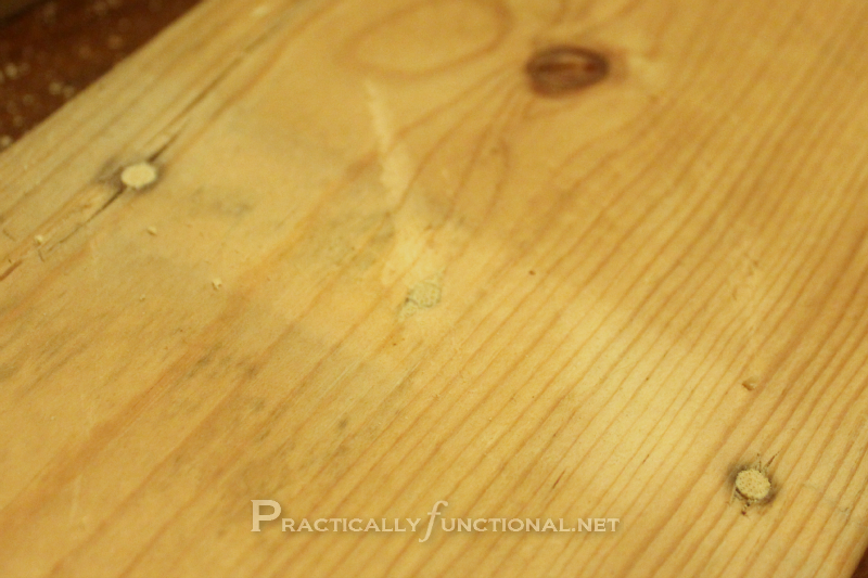 How to fix nail or screw holes in reclaimed wood for Wood floor hole filler