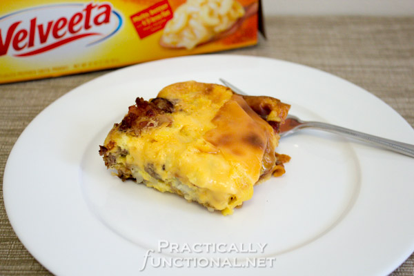 Meat Lover's Cheesy Potato Breakfast Casserole!