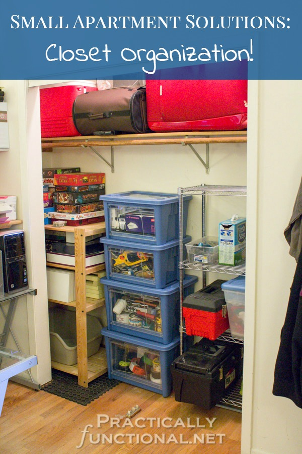 Small Apartment Solutions: Closet Organization!