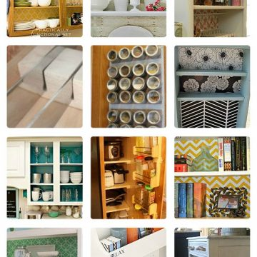 18 Ways To Decorate And Organize Inside Cabinets & Drawers!