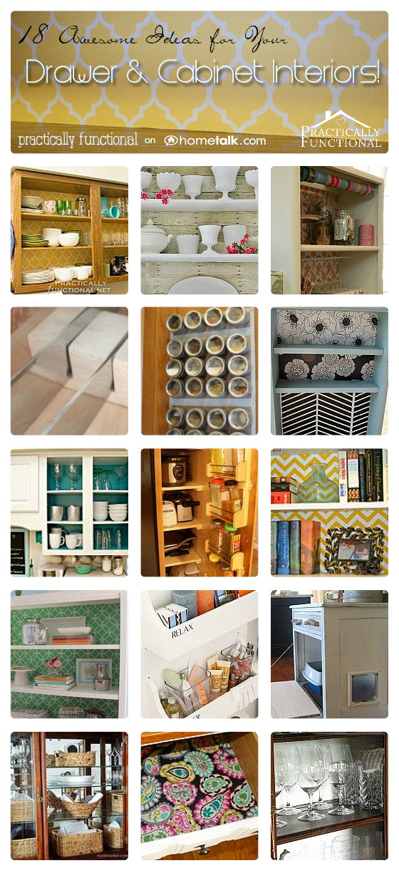 18 ways to decorate and organize the insides of your drawers and cabinets!