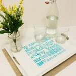 Stenciled Subway Art Tray