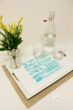 DIY Stenciled Subway Art Tray