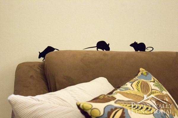 15 Minute Halloween Decor Idea - Vinyl Mice Silhouettes