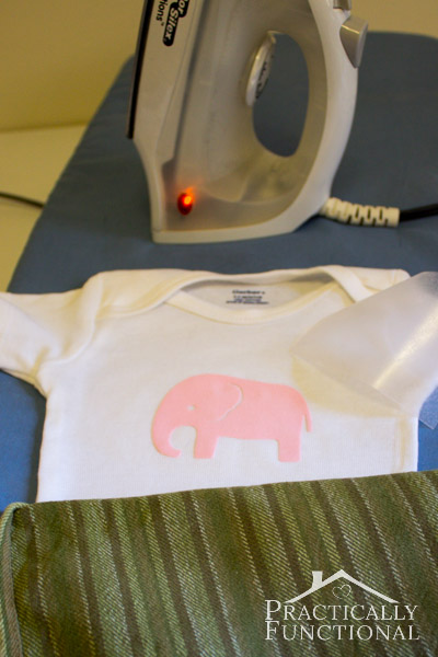 DIY Baby Animal Graphic Heat Transfer Onesies