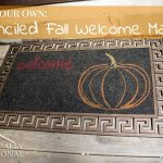 DIY Stenciled Fall Welcome Mat