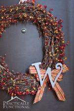 DIY Fall Monogram Wreath