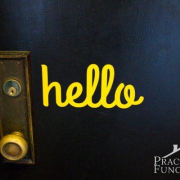 DIY Hello Door Vinyl