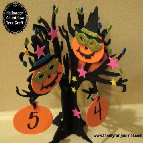 Halloween Countdown Calendar Tree from Family Fun Journal
