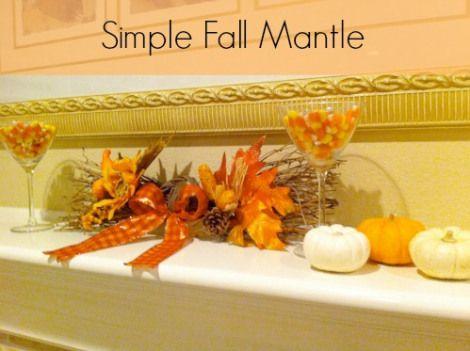 Simple Fall Mantel from Organized Island