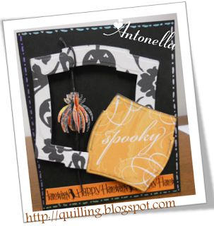 Spooky Halloween Card from Quilling, Art and Expression