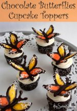 DIY Chocolate Butterflies Cupcake Toppers