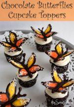 DIY Chocolate Butterflies Cupcake Toppers