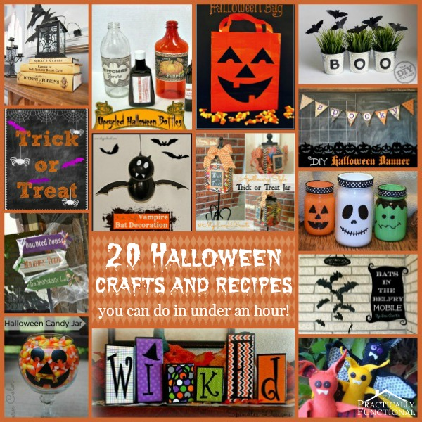 20 Halloween Crafts and Recipes You Can Make In Under An Hour!