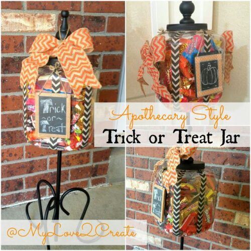 Apothecary Trick or Treat Jar from MyLove2Create