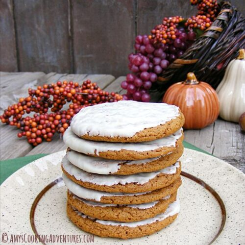 Chewy Pumpkin Spice Molasses Cookies from Amy's Cooking Adventures
