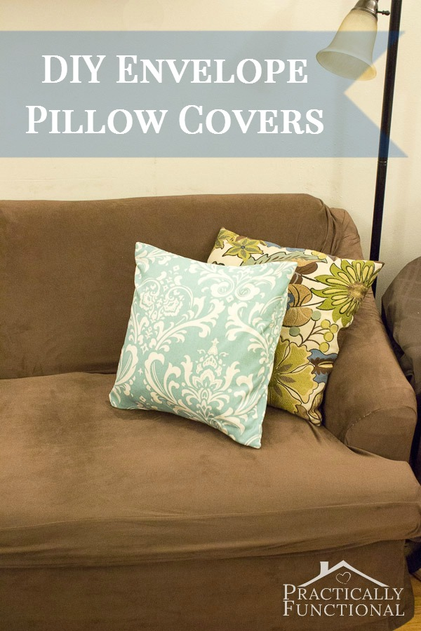 Make Throw Pillow Cover Without Sewing : Make Your Own Envelope Pillow Covers!