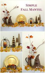 How To Decorate A Simple, Inexpensive Fall Mantel