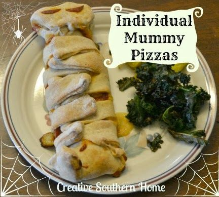 Individual Mummy Pizzas from Creative Southern Home