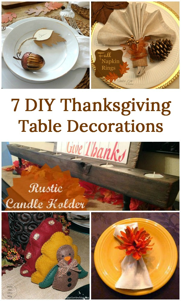 7 diy thanksgiving table decorations Thanksgiving table decorations homemade