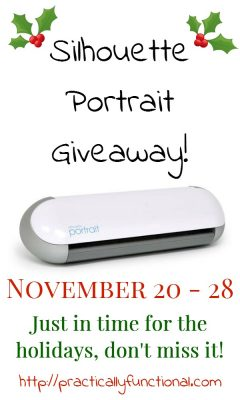 Silhouette Portrait Giveaway! Enter to win a Silhouette Portrait Nov. 20-28, just in time for the holidays!