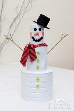 DIY Christmas Craft: Tin Can Snowman