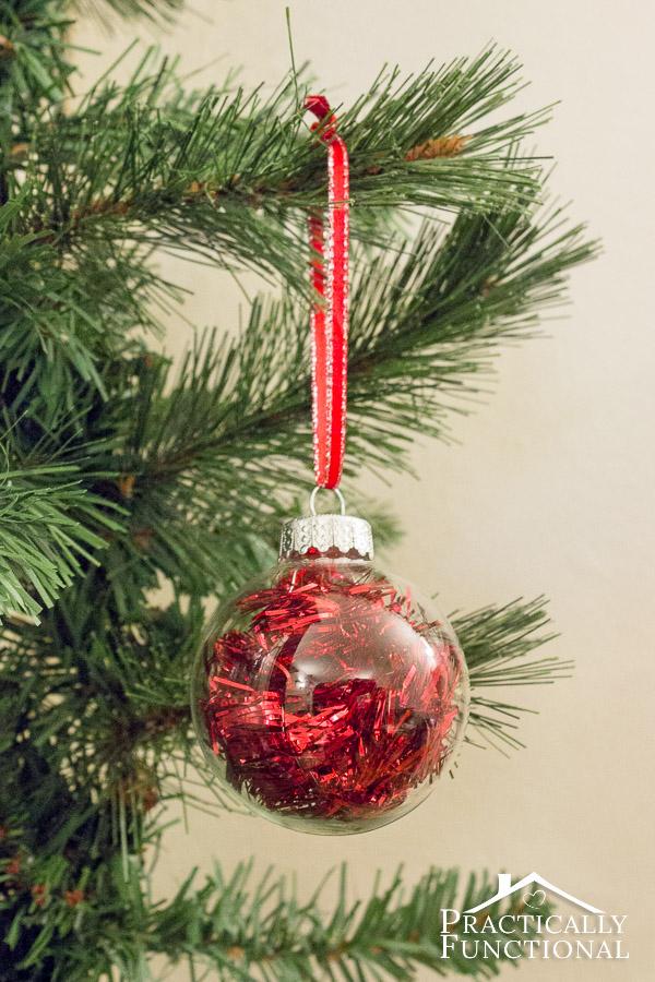 Christmas Ornaments Glass Balls Handmade : Diy filled glass ball christmas ornaments