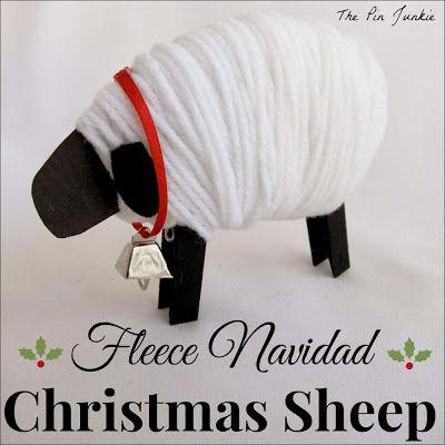 Feliz Navidad Christmas Sheep from The Pin Junkie