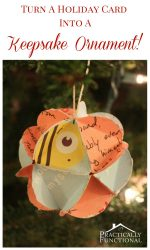 Turn Holiday Cards Into Keepsake Ornaments!